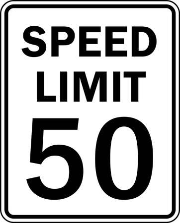 speed limit: road sign Stock Photo