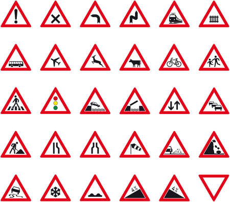 one hundred twenty triangular curve: road sign Illustration