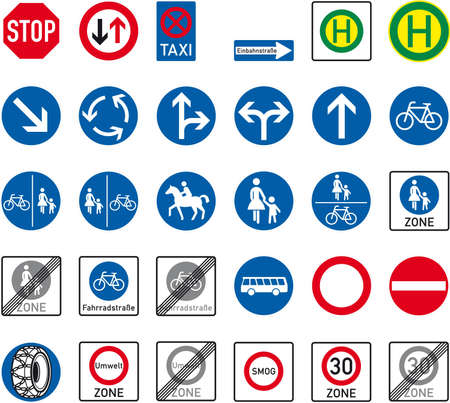 one way sign: road sign Illustration