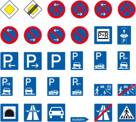parking sign: road sign Illustration