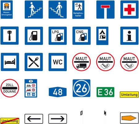 parking disk: road sign Illustration