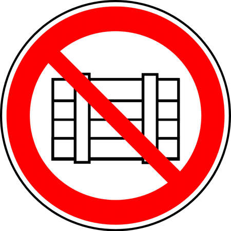 banned: road sign Stock Photo
