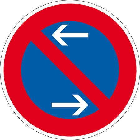 pedestrian sign: road sign Stock Photo