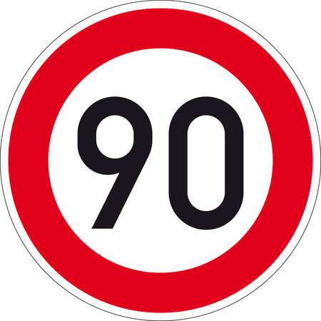 overtaking: road sign Stock Photo
