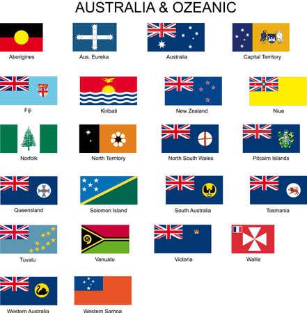 bandera de nueva zelanda: banderas Vectores