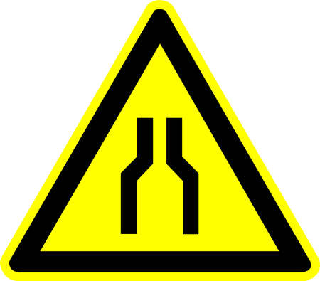 conveyor rail: warning sign