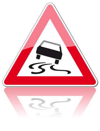 fisch eis: Verkehrszeichen