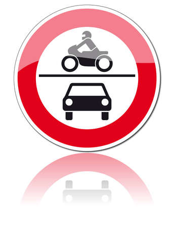 no overtaking: traffic signs Illustration