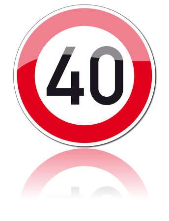 40: traffic signs Illustration