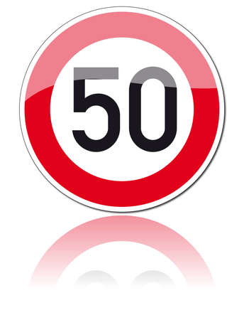 fifty: traffic signs Illustration
