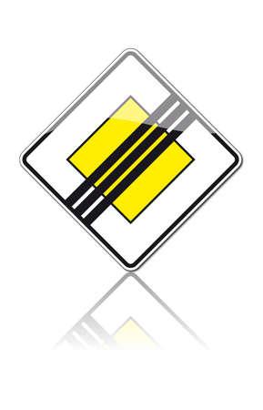 right of way: traffic signs Illustration