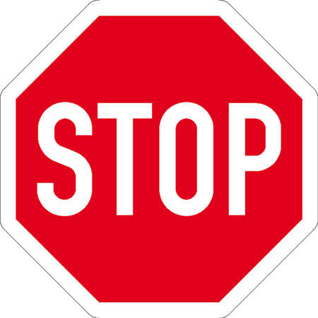 with stop sign: traffic signs Illustration