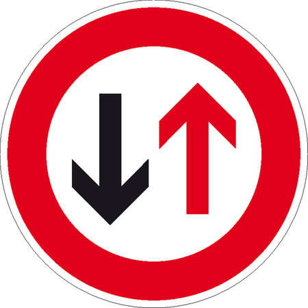 end of road: traffic signs Illustration
