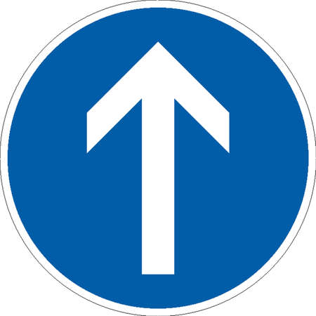 road sign: traffic signs Illustration