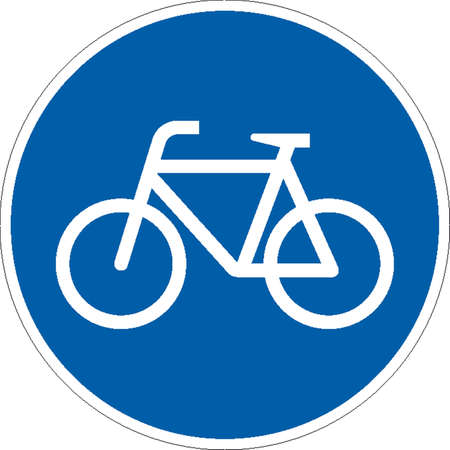 road bike: traffic signs Illustration