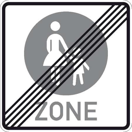 hurl snow: traffic signs Illustration