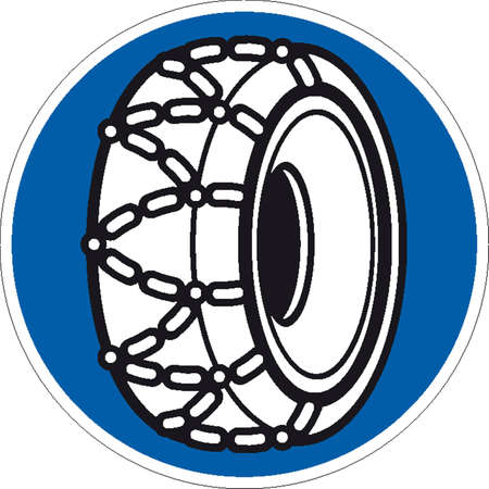 snow chains: traffic signs Illustration