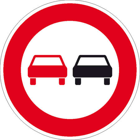 crossing the road: traffic signs Illustration