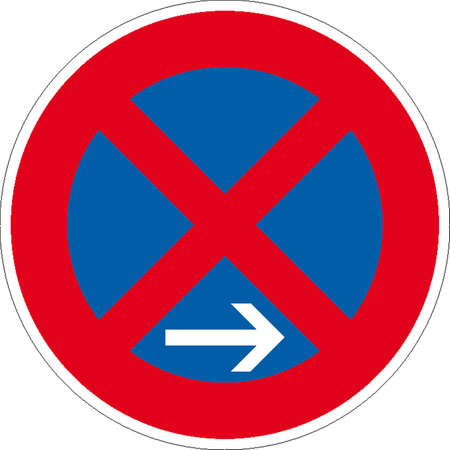 building fire: traffic signs Illustration