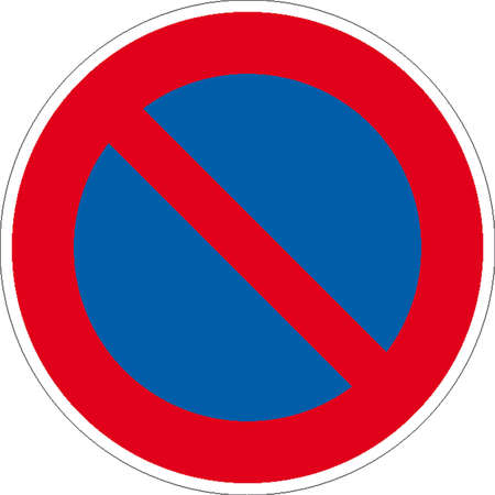 customs charging that limit: traffic signs Illustration