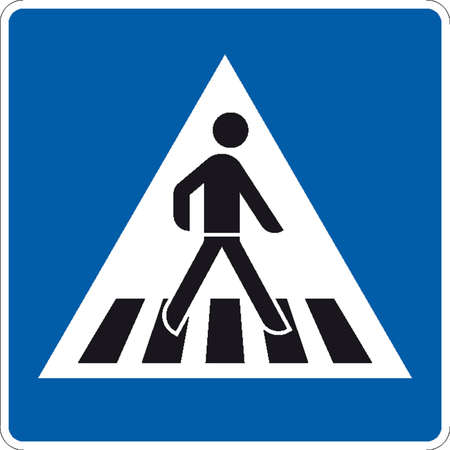 crossing street: traffic signs Illustration