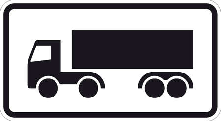 truck on highway: traffic signs Illustration