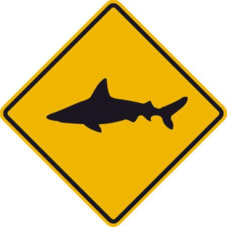 squalo bianco: segnaletica