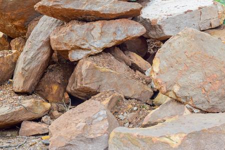 rock pile: big rock pile Stock Photo