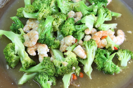 Stir-fried Broccoli with Shrimp