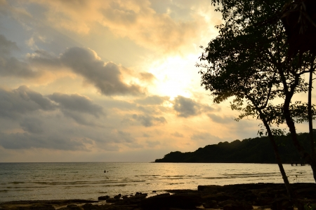 kood: Sunset at Koh Kut Island, Trat Province  This is a destination of Thailand Stock Photo