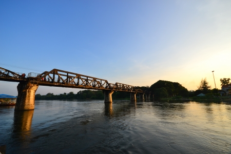 The Bridge of the River Kwai ,Kanchanaburi Province, Thailand photo