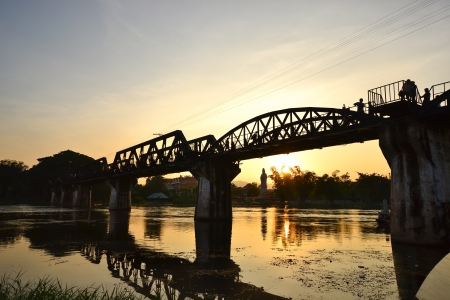 The Bridge of the River Kwai in thailand photo