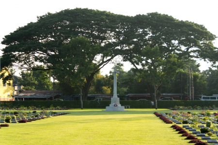 The war cemetery at Kanchanaburi province,Thailand, photo