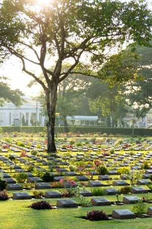 The war cemetery at Kanchanaburi province,Thailand,