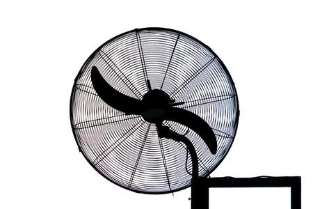 Electric Fan Silhouette Stock Photo - 17079211