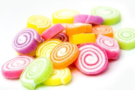 gelatina: Marshmallow con postre de gelatina Foto de archivo