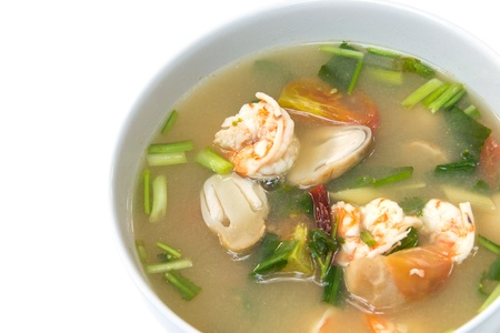 sour grass: Tom Yum Goong soup with shrimp ,favorite Thai food Stock Photo