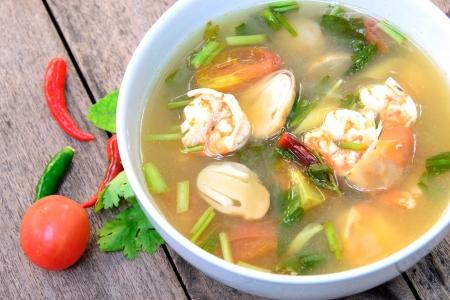 sour grass: tom Yum Soup, thai food Stock Photo