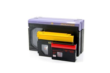 Video Cassettes (Betacam, DVCPRO, MiniDV) Stock Photo