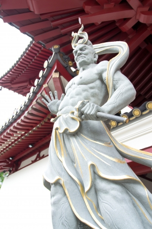 gaurd: gargoyle of the tooth temple China town Singapore