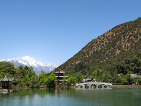 Black Dragon Pool at Lijiang, the best viewpoint in China photo