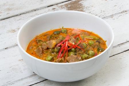 Panang Curry with Beef Recipe  Panang Neua ,thai food photo