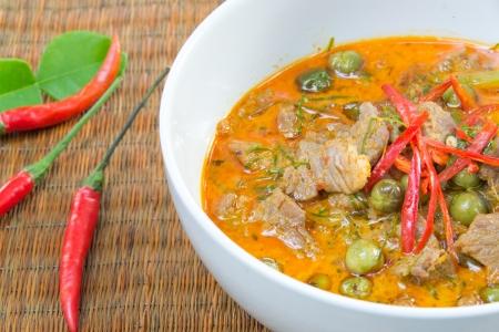 Panang Curry with Beef Recipe  Panang Neua ,thai food 版權商用圖片