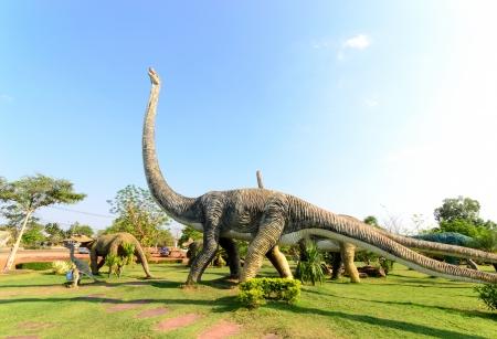 tyrannosaur: public parks of statues and dinosaur