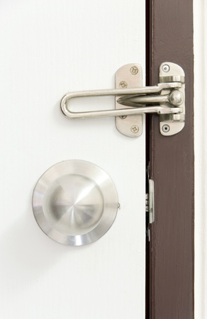Door locked with Doorknob photo