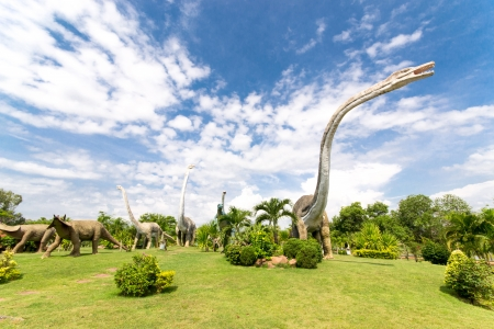 tyrannosaur: public parks of statues and dinosaur