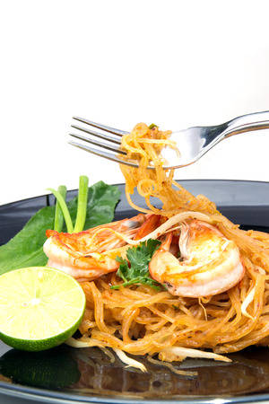thai style noodles, local named Pad Thai photo