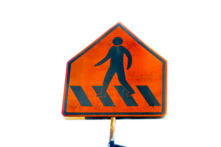 Traffic sign ,Pedestrian crossing photo