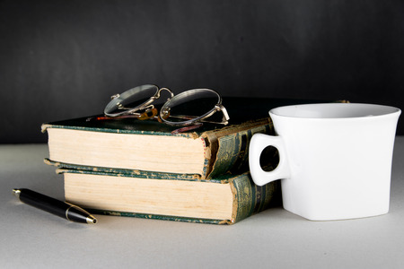 vintage book and coffee photo