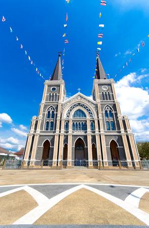 The Catholic cathedral in Chantaburi, Thailand photo